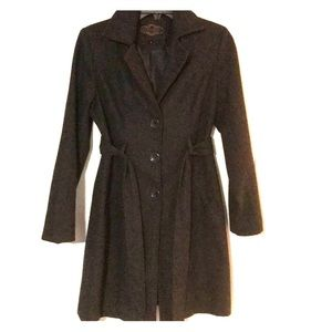 Charcoal Grey Ladies Pea Coat